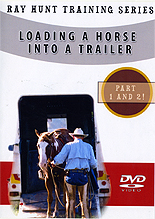 Loading A Horse Into A Trailer by Ray Hunt